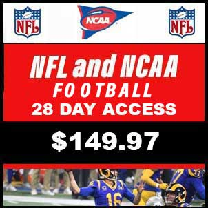 NFL and NCAA Football (B) 28 Day Subscription