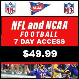NFL and NCAA Football (A) 7 Day Subscription